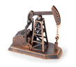 Metal mechanical miniature model of oil derrick isolated