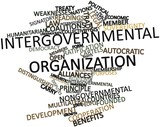 Word cloud for Intergovernmental organization