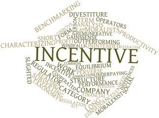 Word cloud for Incentive