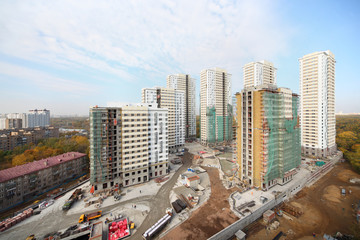 Seven buildings under construction