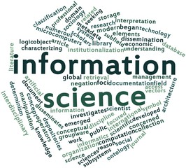 Word cloud for Information science