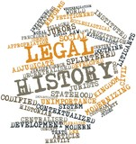 Word cloud for Legal history