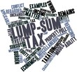 ������, ������: Word cloud for Lump sum tax