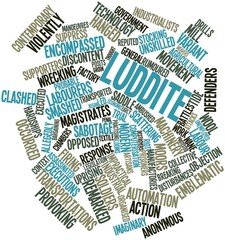 Word cloud for Luddite