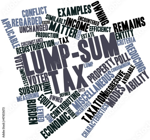Word cloud for Lump-sum tax