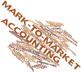 Word cloud for Mark-to-market accounting