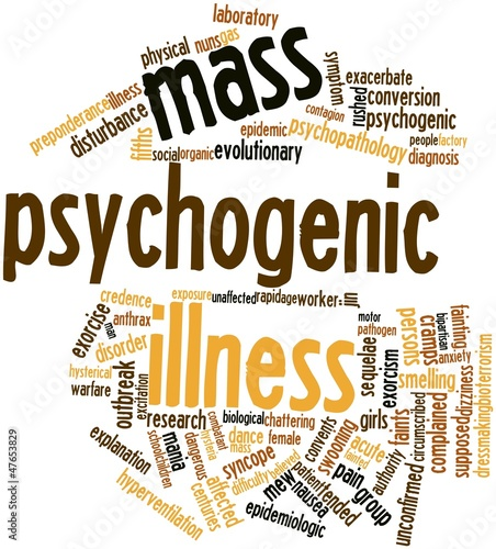 Word cloud for Mass psychogenic illness
