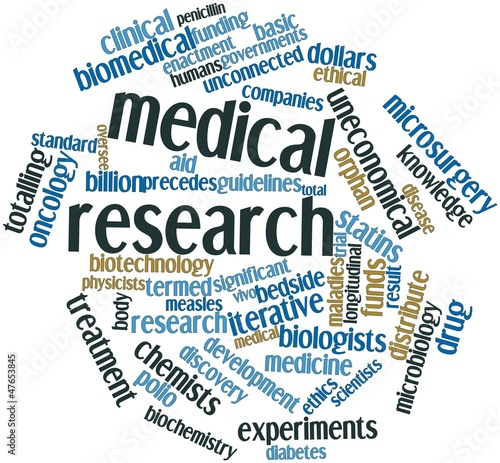 Word cloud for Medical research