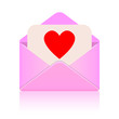 Love message vector sign