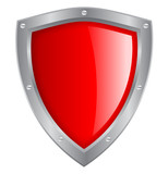 Vector red glass shield