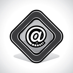 Message/Email Icon Design Stock Vector
