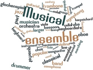 Word cloud for Musical ensemble