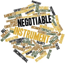 Word cloud for Negotiable instrument