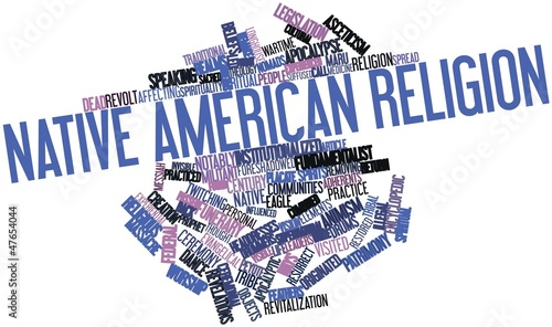 Word cloud for Native American religion