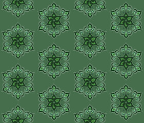 fan_shaped pattern of flowers