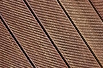 Brauner Terassenboden aus Holz