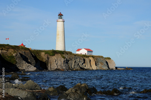 Quebec, the lighthouse of Cap les Rosiers in Gaspesie