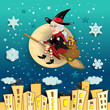 Befana moon in the city