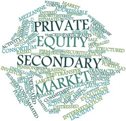Word cloud for Private equity secondary market