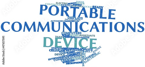 Word cloud for Portable communications device