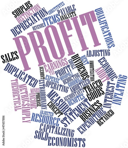 Word cloud for Profit