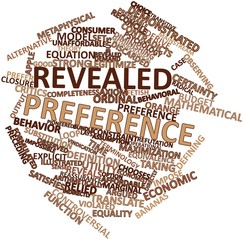 Word cloud for Revealed preference