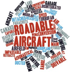 Word cloud for Roadable aircraft