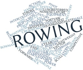 Word cloud for Rowing
