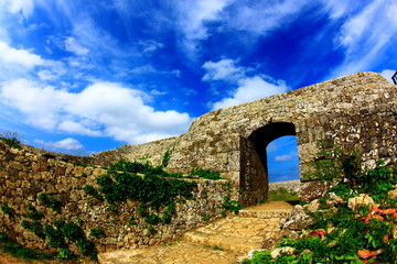 castle ruin of Okinawa