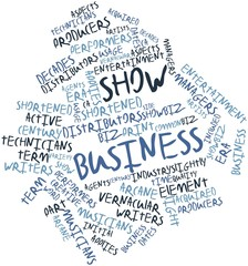 Word cloud for Show business