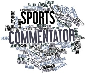 Word cloud for Sports commentator