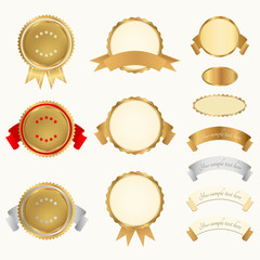 Vector set: Awards. Abstract design elements