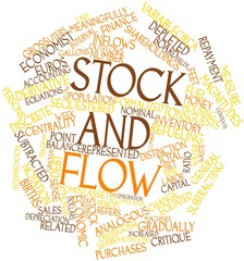 Word cloud for Stock and flow