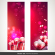 Valentine's Day vertical banners - vector set