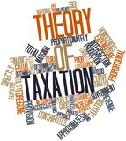 Word cloud for Theory of taxation