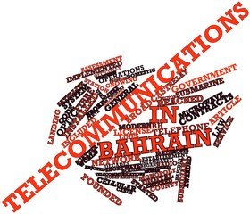 Word cloud for Telecommunications in Bahrain