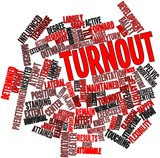 Word cloud for Turnout