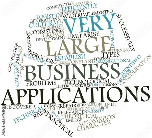 Word cloud for Very Large Business Applications