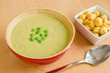 Green pea cream soup