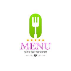 kitchen menu colored sign icon