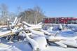 Winter auf dem Kindespielplatz