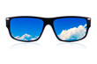 Sunglasses with a cloudy sky (isolated on white)