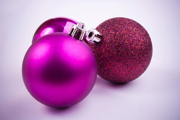 Purple Christmas baubles