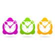 kitchen clock icon logo sign