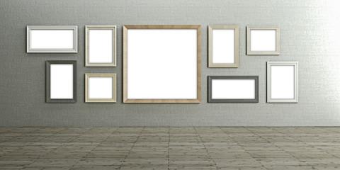 Galerie, Gemälde, Rahmen, Vernissage
