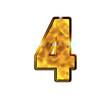 4 - quatre - Chiffre de luxe en or