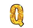 Q - Alphabet lettre de luxe en or