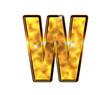 W - Alphabet lettre de luxe