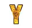 Y - Alphabet lettre de luxe en or
