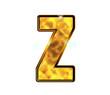Z - Alphabet lettre de luxe en or
